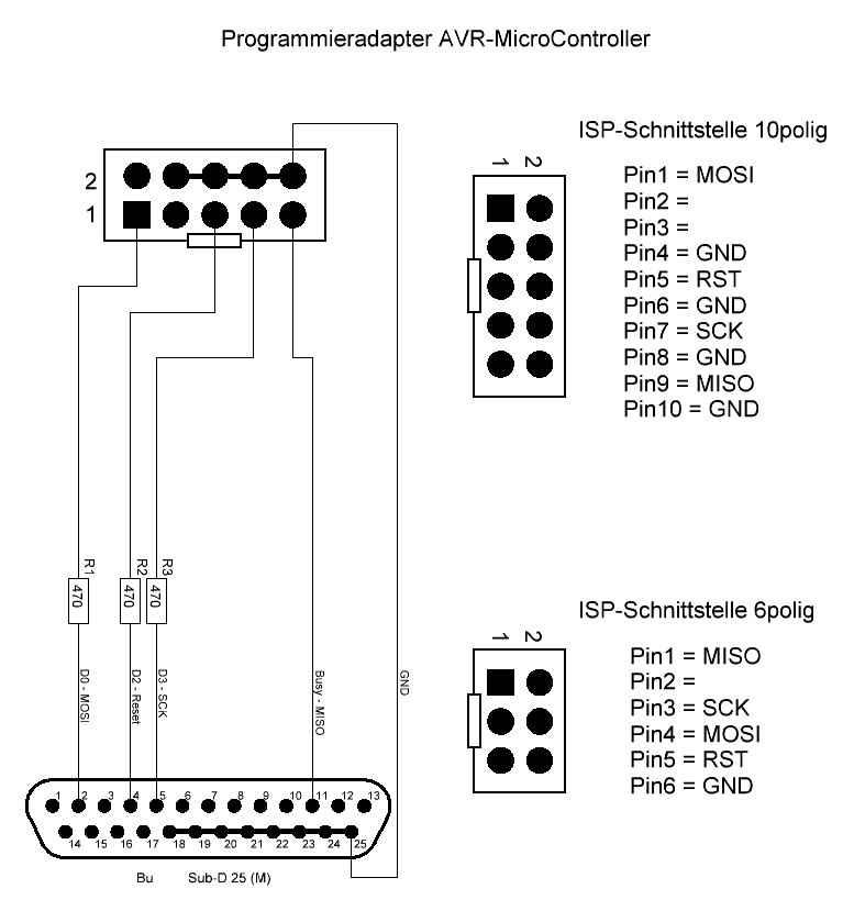 Atmel-AVR-ISP-Programmer im Eigenbau - Die Oliver-Schlenker-Homepage ***
